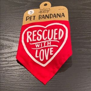 New Small Dog Bandana Rescued with Love washable